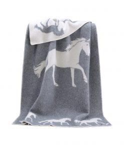 Grey Big Horse Blanket - JJ Textile