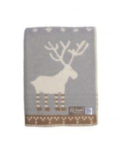 Grey And Brown Festive Blanket Folded - JJ Textile