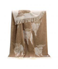 Brown Highland Cow Throw - JJ Textile