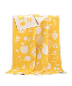 Yellow Fruit Cotton Blanket - JJ Textile