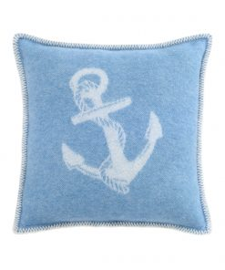 Blue Anchor Cushion Cover Front - JJ Textile