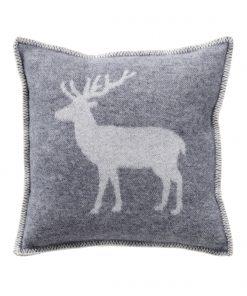 Grey Deer Cushion Cover Front - JJ Textile