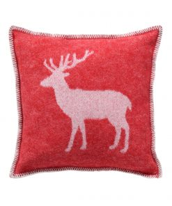 Red Deer Cushion Cover Front - JJ Textile