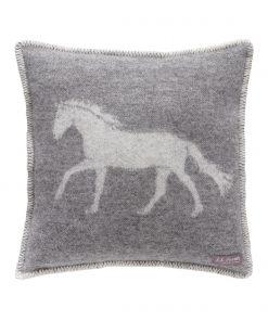 Grey Horse Cushion Cover Front - JJ Textile