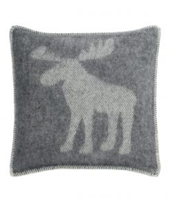 Grey Moose Cushion Cover Front - JJ Textile