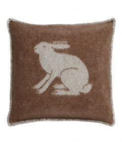 Brown Rabbit Cushion Cover Front - JJ Textile