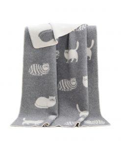 Grey Cat Blanket - JJ Textile