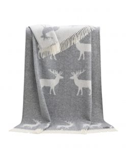Grey Deer Throw - JJ Textile