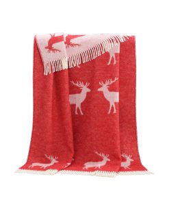 Red Deer Throw - JJ Textile