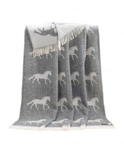 Grey Horse Throw - JJ Textile