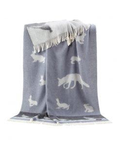 Grey Rabbit Throw - JJ Textile