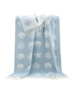 Light Blue Seashells Throw - JJ Textile