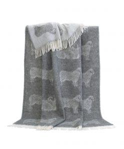 Grey Sheep Throw - JJ Textile