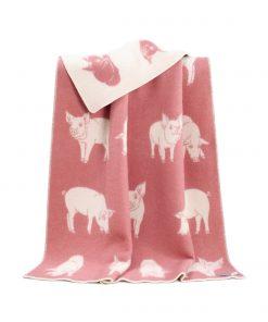 Pink Piglet Blanket - JJ Textile