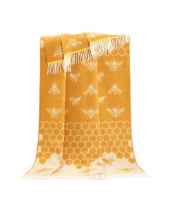 Mustard Bee Throw - JJ Textile