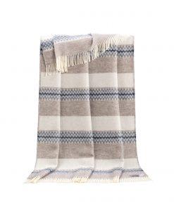 Beige And Grey Mita Throw - JJ Textile