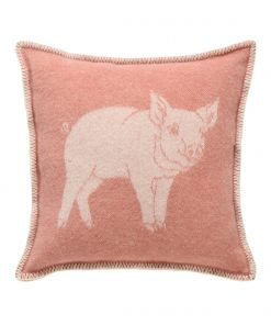 Pink Piglet Cushion Cover Front - JJ Textile