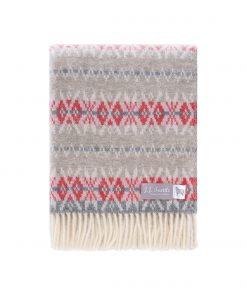 Grey Nord Throw Folded - JJ Textile