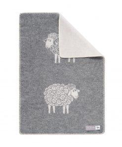 Grey Curly Sheep Little Blanket - JJ Textile
