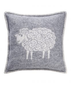 Grey Curly Sheep Cushion - JJ Textile