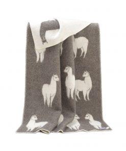 Solid Brown Alpaca Blanket - JJ Texitle