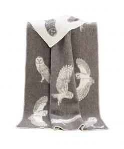 Solid Brown Owls Blanket - JJ Textile