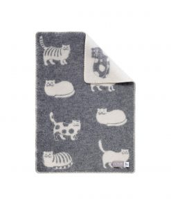 Grey Cat Little Blanket - JJ Textile