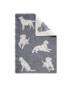 Grey Dog Little Blanket - JJ Textile