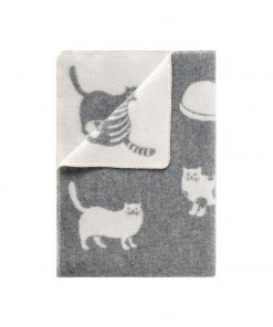 Grey Cat Small Blanket - JJ Textile