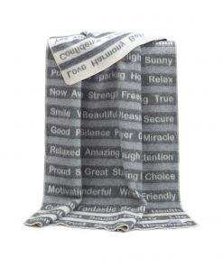 Grey Positive Blanket - JJ Textile