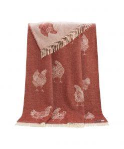Terracotta Chicken Throw - JJ Textile