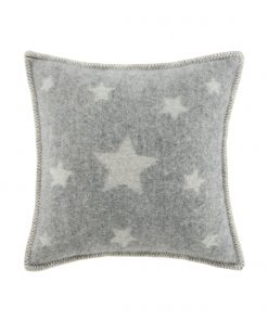 Grey Stars Cushion Cover Front - JJ Textile