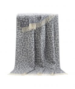 Grey Leopard Throw - JJ Textile