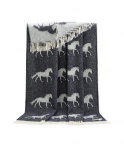 Dark Grey Horse Throw - JJ Textile