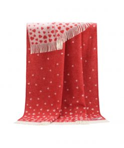 Red Heart Throw - JJ Textile