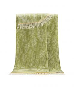 Light Green Fern Throw - JJ Textile