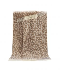 Brown Leopard Throw - JJ Textile