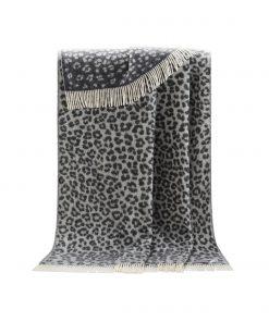 Dark Grey Leopard Throw - JJ Textile