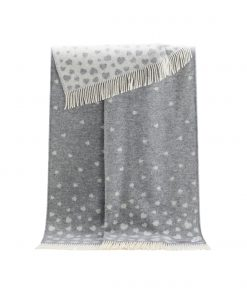 Grey Heart Throw - JJ Textile