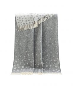 Grey Stars Throw - JJ Textile