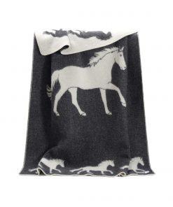Dark Grey Big Horse Blanket - JJ Textile