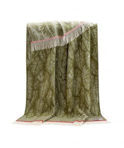 Mossy Green Fern Throw - JJ Textile